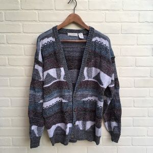 Vintage Neutral Color Knit Cardigan